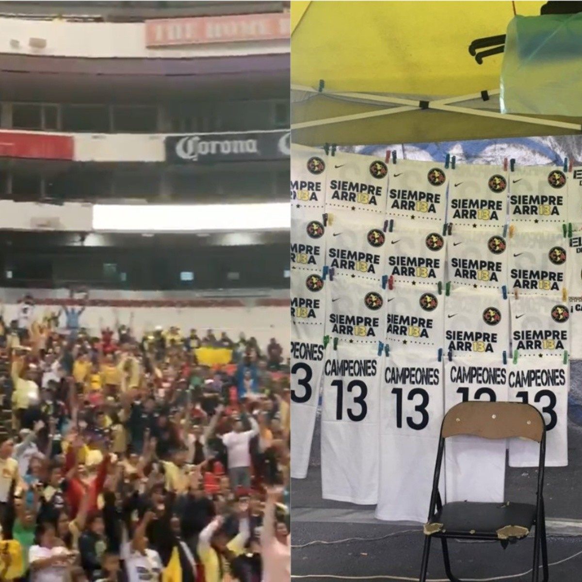 Celebración del título 13  Locura total de los aficionados del América en  el Estadio Azteca 265168fc94574