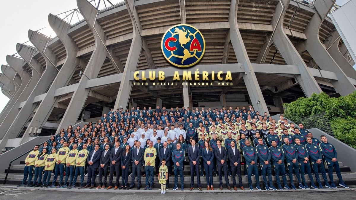 América se tomó la foto oficial del Torneo Clausura 2020 con el ...